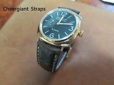 Panerai padded crocodile watch strap samples Cheergiant hand made watch straps