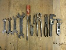 Classic Car Vintage Tool Kit Roll ~2 BMC WHITWORTH SPANNERS PLIERS SCREWDRIVER