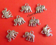 5pz charms ciondoli elefante colore tibet  12x8mm