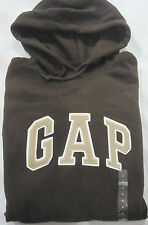 Mens GAP Brown Logo Hoodie Sweatshirt S Small NWT