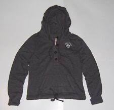 NWT! Hollister by Abercrombie & Fitch Women's Gray Pullover Hoodie Size Large