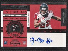 Jacquizz Rodgers 2011 Playoff Contenders RC Autograph #138 Atlanta Falcons Card