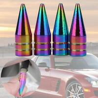 Universal Car Wheel Bullet Aluminum Tire Air Valve Stems Cap Dust Cover Caps//