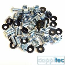 """20 PACK M6 CAGE NUTS BOLTS WASHERS FOR 19"""" RACK MOUNT DATA CABINETS 15mm THREAD"""