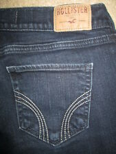 HOLLISTER Laguna Skinny Stretch Dark Blue Denim Jeans Womens Size 5 Short x 29.5