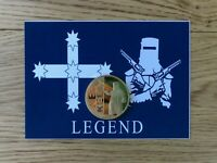 NED KELLY EUREKA FLAG 1 Oz 24K 999 GOLD PLATED COIN WITH COLLECTORS CARD SET