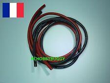 Cable Alimentation Silicone 10AWG 1m Rouge + 1m Noir (ESC,Moteur,Brushless,LIPO)