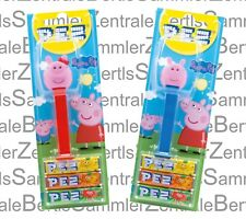 PEZ - PEPPA PIG 2018 - set of 2  / Mint on Card !!!