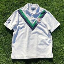 Mens White Polo Ralph Lauren Football Club 1933-36 Patch Rugby S/S Shirt Golf XL