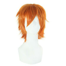 Hot Fashion Men's Short Orange Wig Party Dress Almighty Costume Cosplay Wigs