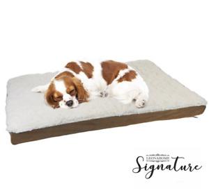 Foam Dog Pet Bed Mat Orthopedic suede cats puppy Medium Large anti-slip AU