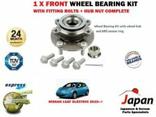 FOR NISSAN LEAF ELECTRIC ZE0 2010-> 1X FRONT WHEEL BEARING KIT + BOLTS + HUB NUT