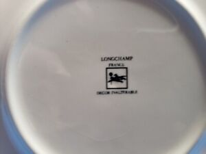 Longchamp Quimper Style French 5 Dinner Plates