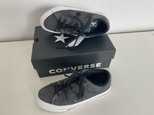 Converse cuir baskets sneakers One star ox 45ans limited edition 34 34.5