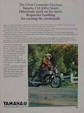 1972 YAMAHA CS5 200 Original Color Motorcycle Ad CS-5