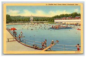 Vintage Postcard Ohio, Sunlite Pool, Coney Island, Cincinnati OH