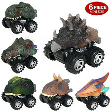 6 Pack Pull Back Dinosaur Vehicle Set Mini Pull Back Animal Car Toy for Toddlers