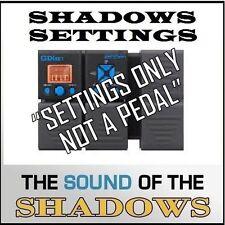 "Zoom G1XON ART D'ECHO that Shadows 60s Echo Sound (settings only) ""NOT A PEDAL"""