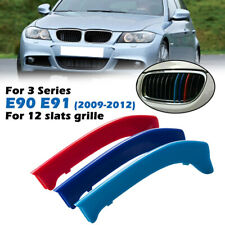 M-Sport 3-Color Grille Insert Trims For BMW E90 E91 LCI 3 Series Kidney Grill