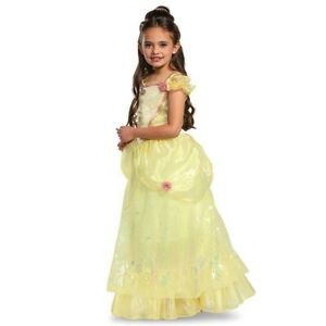 Toddler Deluxe Disney Princess Belle Halloween Costume Dress 3T-4T