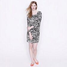 J. Crew Women's Jules Dress In Snowcat Leopard Print Shift Dress Size 4