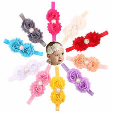 10pcs Girl Baby Toddler Flower Crown Elastic Headband Hair Flowers Accessories