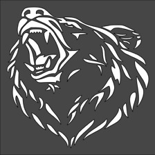 1- 8x8 inch Custom Cut Stencil, (PA-21) Bear