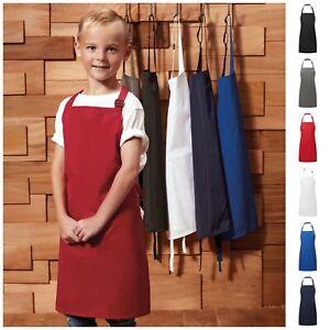 Childrens Waterproof Apron Kids Plain Apron Kitchen Cooking Baking Child Craft