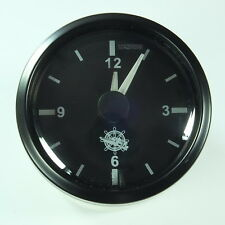 Quarzo orologio clock macchina + Marine 12+ 24v FRONT Anello Nero tre Kant