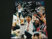 1983 NC State Basketball Championship Team Signed 11x14 V Photo BECKETT BAS COA
