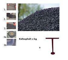 15 x 25 kg Kaltasphalt  Reparaturasphalt Bitumen ** + Kaltasphaltstampfer 16 cm