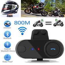Motorrad Gegensprechanlage Sprechfunkgeraet Sprechanlage 800m Bluetooth GPS FM