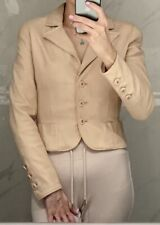 Chanel Lambskin Jacket Nude/Beige Silver CC Buttons XS GORGEOUS!!!