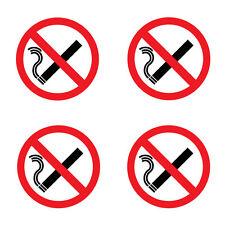 No Smoking Sticker Warning Sign ** PACK OF 4 ** 100mm x 100mm - ORACAL Vinyl