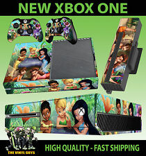 XBOX ONE Console AUTOCOLLANT Tinkerbell and Friends fées PIXIES Skin & 2 Pad