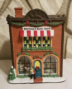 Vintage Victorian Village Collectible 1999 BENTLEYS BOOK SHOP Porcelain NO LIGHT