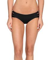 Vitamin A Swimwear Womens Black Emelia Triple Strap Bikini Bottom Sz 6 71201