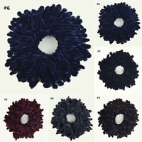 1 Pc Volumising Scrunchy Velvet Big Hair Tie Band Bun Clip Hijab Scarf Supplies