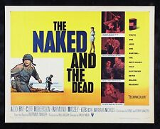 THE NAKED AND THE DEAD ✯ CineMasterpieces MOVIE POSTER 1958 ARMY WAR SOLDIER