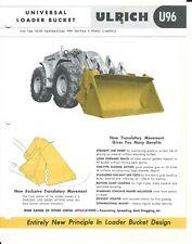 Equipment Data Sheet - Ulrich U96 Bucket Caterpillar 966 A Wheel Loader (E5337)