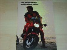 62743) BMW K 100 LT RT RS K 75 C R 100 R 80 R 65 GS Prospekt 08/1987