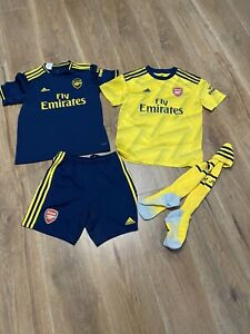 Boys Away Arsenal Kit Shirt Shorts Socks Kids 11-12 Years Bundle Pepe19