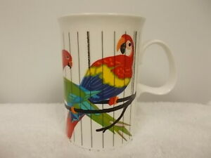 Dunoon Bone China Reverie Jack Dadd Colorful Parrots Coffee Tea Cup Mug
