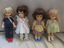 Lot of 4 Vintage Ginny Dolls 1977 Vogue Dolls As Found