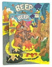 Vintage Beep Beep Road Runner Coyote Puzzle Whitman 99 Pieces Looney Tunes