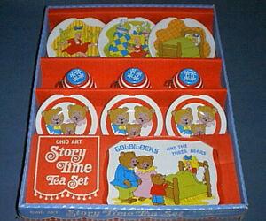 Ohio Art Tin Litho STORY TIME Tea Set GOLDILOCKS and THREE BEARS - Unopened NEW!