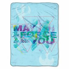 "Star Wars ""May the Force Be with You"" Super Plush Throw Blanket 46'' x 60'' New"