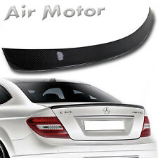 Carbon Fiber Mercedes Benz C204 Coupe AMG Type Rear Trunk Boot Spoiler Wing 11