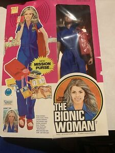 Vintage Kenner Bionic Woman Jaime Sommers Figure Doll with the New Mission Purse
