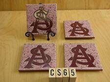 "Ceramic Art Tile 4""x4"" 4 pcs Coaster Set w/Stand Arizona State Sun Devils Cs65"